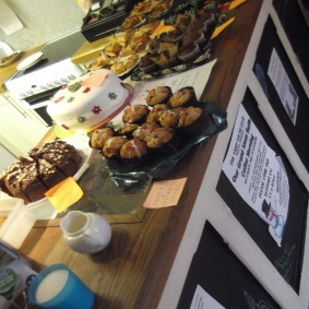 So many yummy things! The Yard Youth Club fundraising coffee morning 3rd December 2016. Thank you to everyone who made cakes.