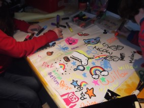 Drawing at the Moretonhampstead youth club