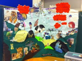 Our giant collage celebrating the planting of a new community orchard for Moreton, which we started at the club then went to the library for a month. We worked in partnership with MAGS.